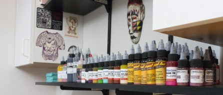 Here's a look at some of the ink used at Little Vinnie's Tattoos in Finksburg, Maryland. (Alix Hines/CIRCA)