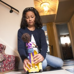 Sharmi Albrechtsen, the founder and CEO of SmartGurlz, says these dolls are great for kids of all ages who want to learn coding. (Alix Hines/CIRCA)