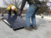 Those who qualify as low-income can have the solar panels installed for free. (Alix Hines/CIRCA)